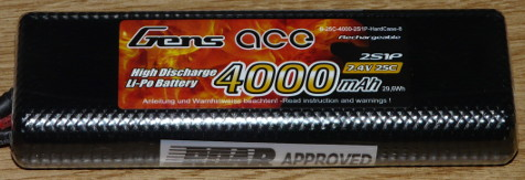Gens Ace 2S Lipo Stick Pack