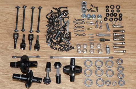 Tamiya 58288 Ferrari F2001 F201 chassis exploded view