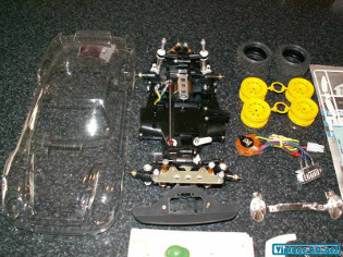 Tamiya 58059 Porsche 959 Paris-Dakar Rally Winner main parts